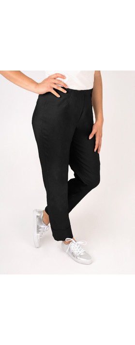 Robell Trousers Bella 7/8 Cropped Trouser  Black