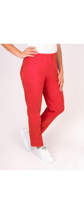 Robell Trousers Bella 7/8 Cropped Trouser  Coral