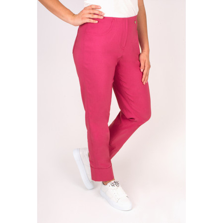 Robell Trousers Bella 7/8 Cropped Trouser  - Pink