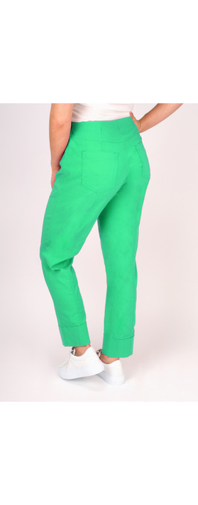 Robell Trousers Bella 7/8 Cropped Trouser  Pistachio