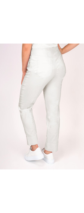 Robell Trousers Bella 7/8 Cropped Trouser  Light Grey