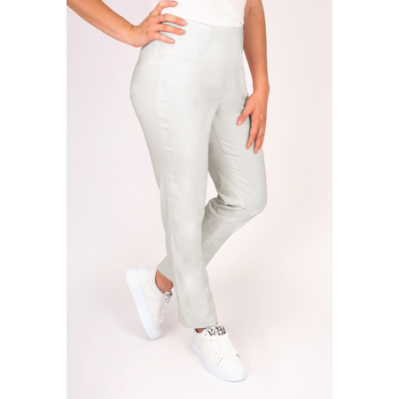 Robell Trousers Bella 7/8 Cropped Trouser  - Grey
