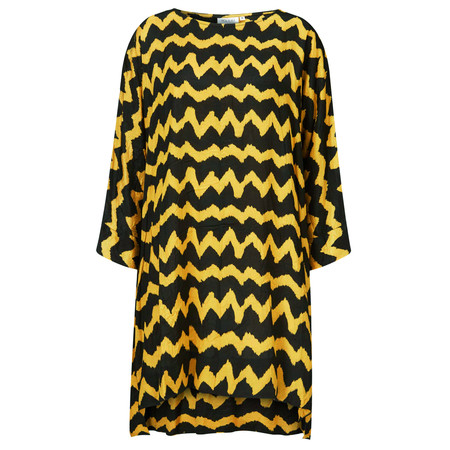 Masai Clothing Glussy Oversized ZigZag Tunic - Yellow
