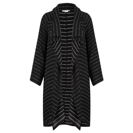 Masai Clothing Long Woven Josefa Jacket - Black