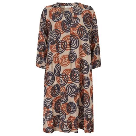 Masai Clothing Nibia Swirl Print Dress - Orange