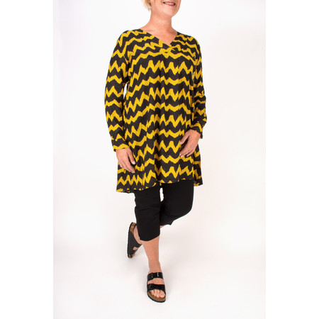 Masai Clothing Glonna ZigZag Print Tunic - Yellow