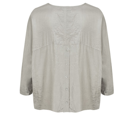Masai Clothing Ines Oversized Wrinkled Blouse - Grey