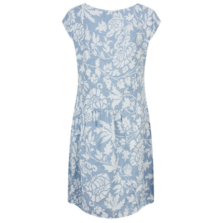TOC  Dahlia Printed Linen Dress - Blue