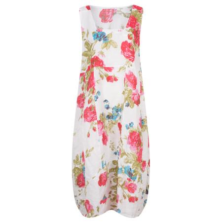 TOC  Destiny Rose Easyfit Linen Dress - White