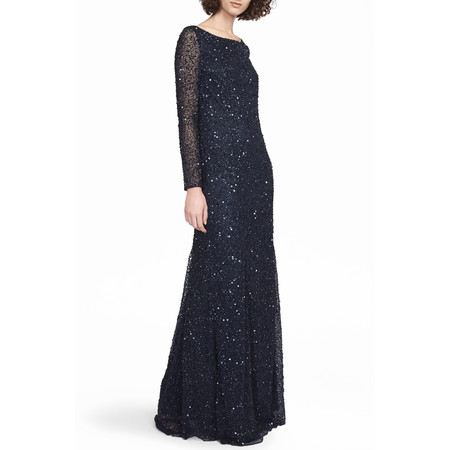 French Connection Helen Sparkle Maxi Dress - Blue