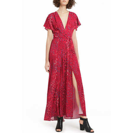 French Connection Frances Drape Tie Waist Dress - Pink