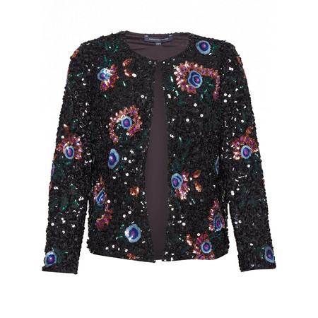 French Connection Valerie Sparkle Jacket - Black