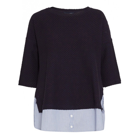 French Connection Dixie Texture Top - Blue