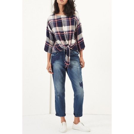 Great Plains Charlotte Check Knot Detail Top - Multicoloured