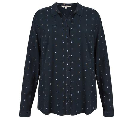 Sandwich Clothing Dot Print Dobby Shirt  - Blue