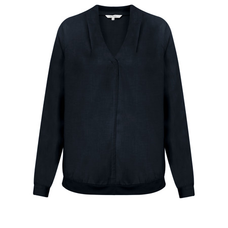 Sandwich Clothing Flowy Long Sleeve Blouse - Blue