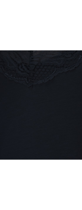 Sandwich Clothing Lace Jersey Cami Top Dark Sapphire