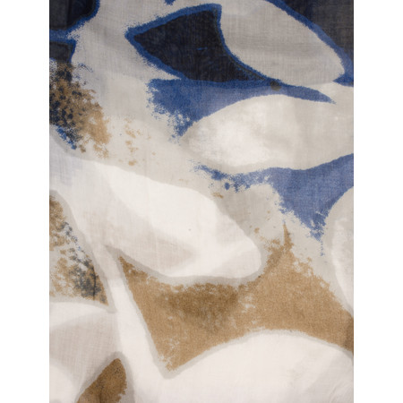 Sandwich Clothing Printed Weave Scarf - Blue