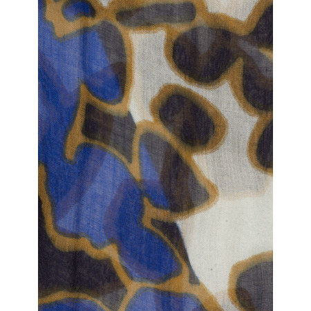 Sandwich Clothing Two Tone Patterned Scarf - Blue
