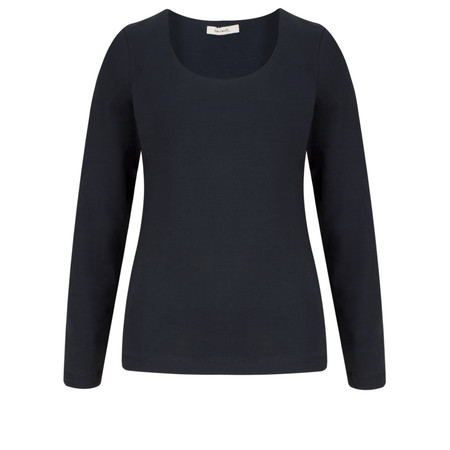 Sandwich Clothing Essential Stretch Jersey Long Sleeve Top - Blue