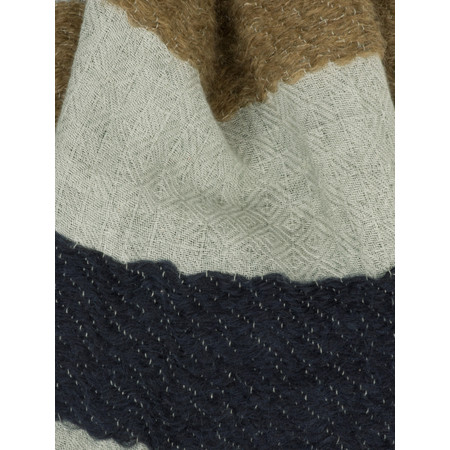 Sandwich Clothing Block Colour Pattern Scarf - Blue