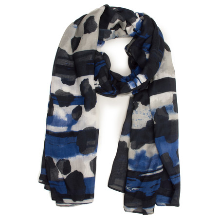 Sandwich Clothing Multi Patterned Scarf - Blue