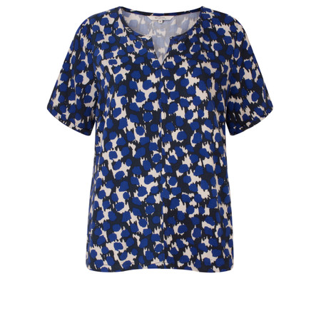 Sandwich Clothing Dotted Camouflaged Print Top - Blue