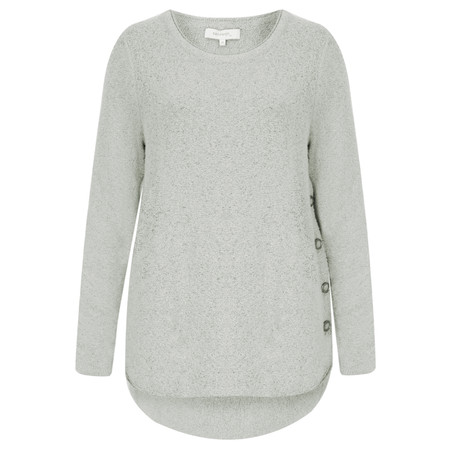 Sandwich Clothing Fluffy Wool Blend Pullover - Blue