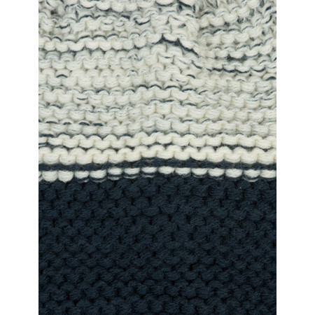 Sandwich Clothing Two Tone Knitted Hat - Blue