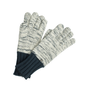 Sandwich Clothing Two Tone Knitted Gloves