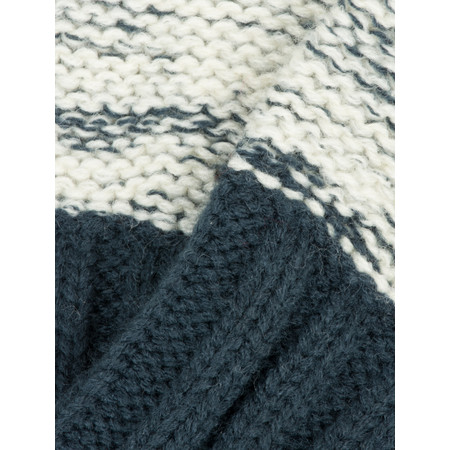 Sandwich Clothing Two Tone Knitted Gloves - Blue