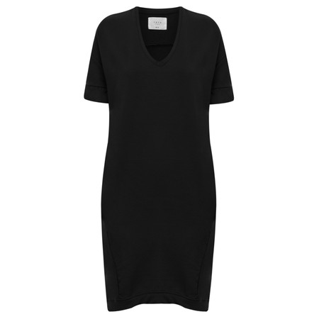 Yaya Contrast Cuff Dress - Black