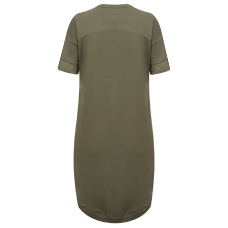 Yaya Contrast Cuff Dress - Green