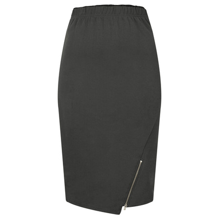 Masai Clothing Susanne Fitted Skirt - Grey