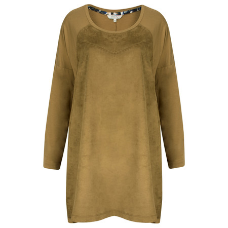 Sandwich Clothing Faux Suede Tunic Top - Beige
