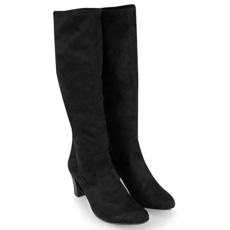 Caprice Footwear Verena Faux Suede Stretch Boot - Black