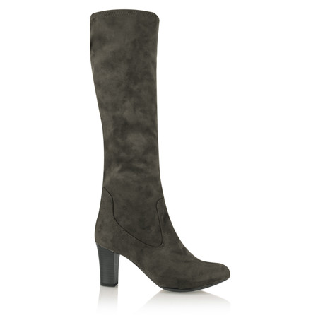 Caprice Footwear Verena Faux Suede Stretch Boot - Grey
