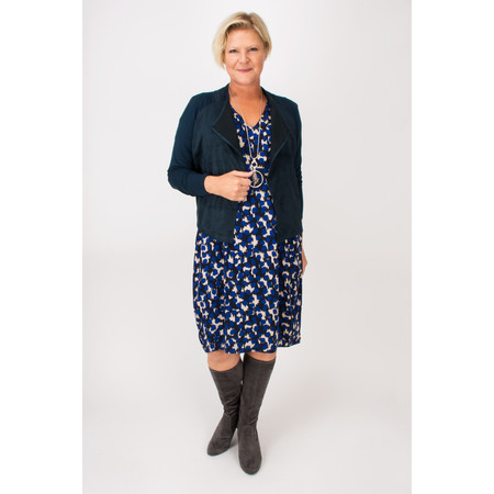 Sandwich Clothing Dotted Camouflaged Oversize Dress  - Blue