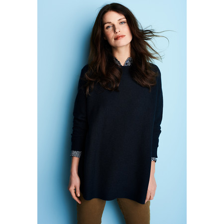 Sandwich Clothing Textured Cotton Pullover - Blue