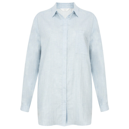 Yaya Chambray Blouse - Blue