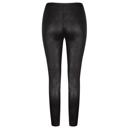 Yaya Fake Leather Jersey Leggings  - Black
