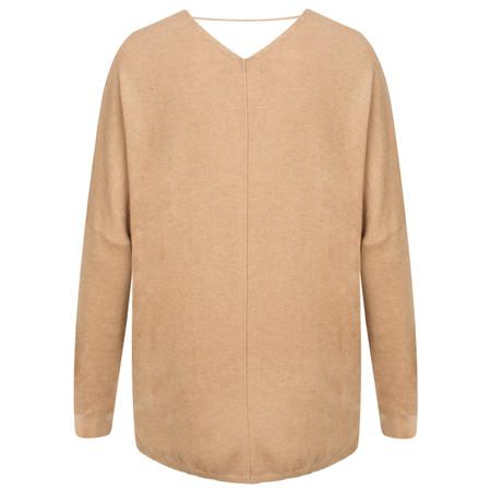 Yaya V Neck Sweater - Beige