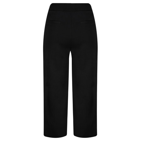 Yaya Wide Leg Jersey Trousers - Black