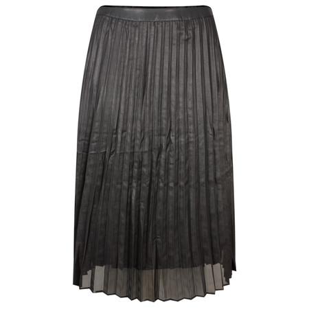 Yaya Woven Plisse Skirt - Metallic