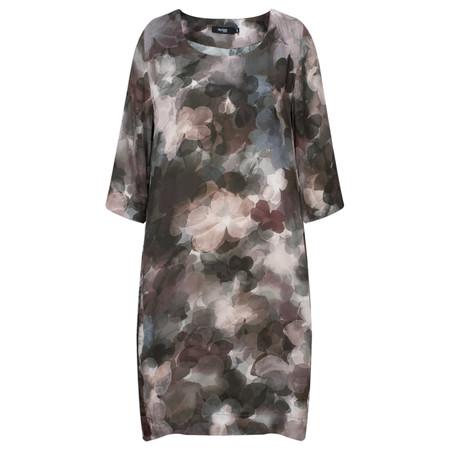 Myrine Apsu Satin Flower Print Dress - Purple