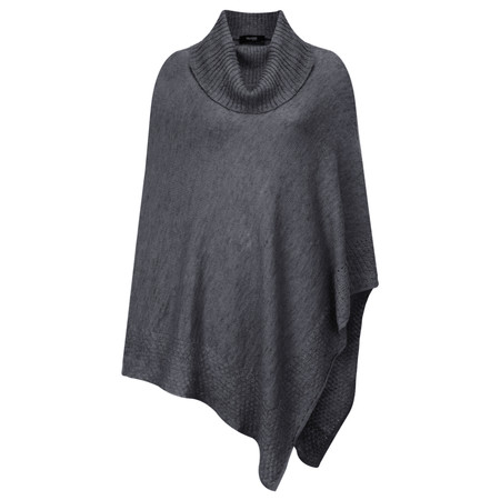 Myrine Geb Knit Poncho - Grey