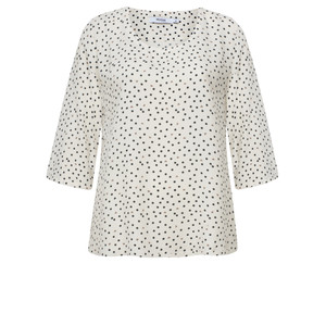 Myrine Baal Dots and Hearts Print Top