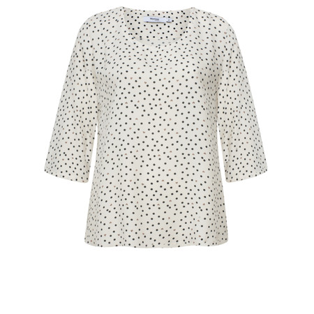 Myrine Baal Dots and Hearts Print Top - White