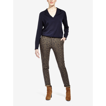 Sandwich Clothing Jacquard Stretch Trousers - Beige