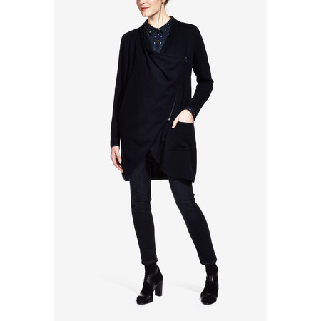 Sandwich Clothing Wool Blend Cardigan Jacket - Blue